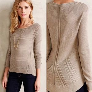 Anthropologie Moth Stitch Mix Pullover Sweater